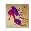 Roderick Stevens Purple Bow Heel Canvas Print