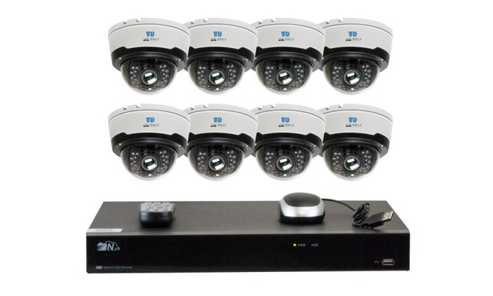 8CH H.265 4K NVR 8pcs 4MP 1520p 2.8-12mm Motorized Camera