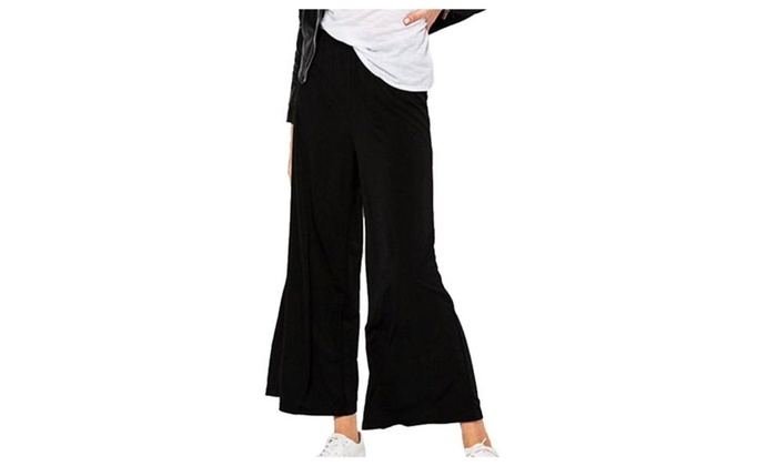 Women's Ladies PullOnStyle High Rise Loose Fit Casual Trousers
