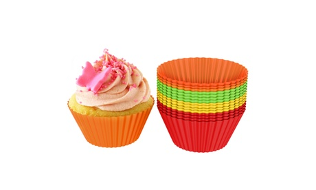 Silicone Baking Cups/Cupcake Liners, Reusable Nonstick Muffin Molds, Set of 24 d8b3ea2f-d504-4aa0-a009-f4e350419066