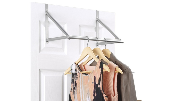 Over The Door Hanger Rod Organizer , Closet Rod With Hanging ...
