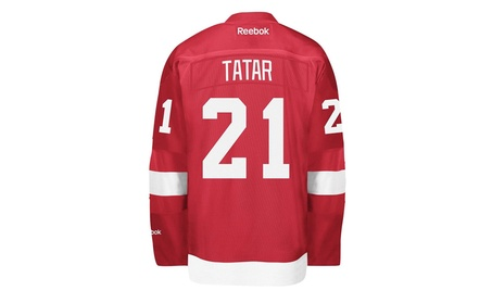 Detroit Red Wings No.21 Tomas Tatar Reebok Red Premier Jersey 47ed3be1-d3e4-49a2-be04-a9cfcc757a73