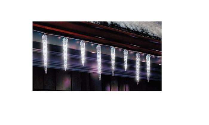 celebrations led dripping christmas icicle light set