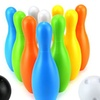 Young Sport Big Bowling Kid's 12 Pcs. Toy Bowling Playset w/ 10 Pins, 2 Balls