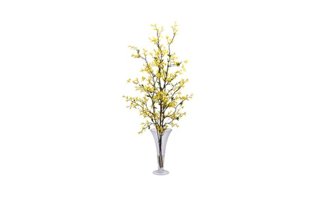 Nearly Natural Forstyhia With Vase Silk Flower Arrangement Yellow 86c95f0f-d6bd-4236-9cab-5cd64b77d00a