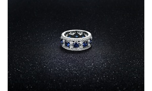 Cubic Zirconia Band in 18k White Gold By Mina Bloom