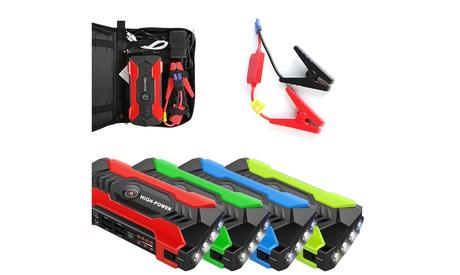 Portable 12V Car Jump Starter Portable USB Power Bank Battery Booster Clamp 600A