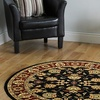 Closeout Discount: LR Home Adana Antiquity Floral Border Indoor Area Rug