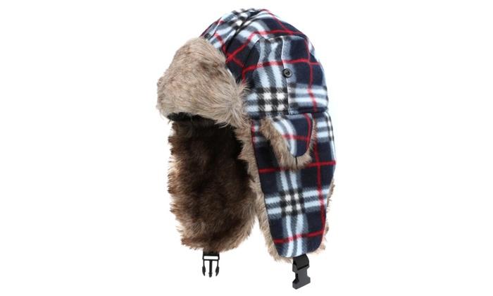 Sakkas Unisex Ear Flap Faux Fur Chin Buckle Strap Winter Trooper Hat