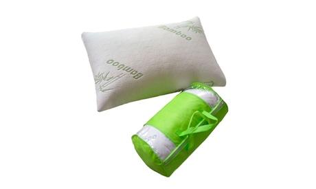 Bluff City Bedding - Original King Bamboo Comfort Memory Foam Cool Pillow