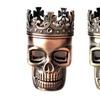 Red Bronze Herb Spice Coffee Grinder Crown Skull Tobacco Grinder