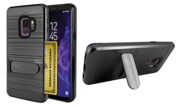 Brushed Metal Shockproof Kickstand Hybrid Case For Samsung Galaxy S9