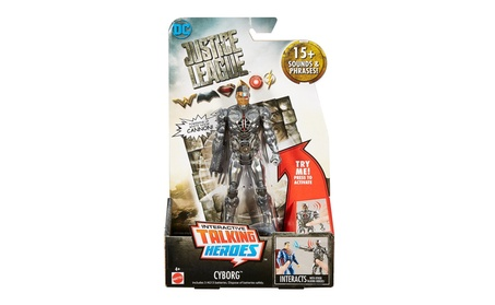 Mattel Justice League Talking Heroes Cyborg™ Figure FGP93 4c057c7b-6827-44d0-8f9e-5a9eaac4553c