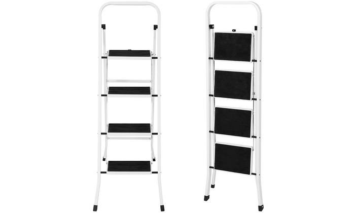Miraculous Portable Folding 4 Step Ladder Steel Stool 300Lb Heavy Duty Pabps2019 Chair Design Images Pabps2019Com