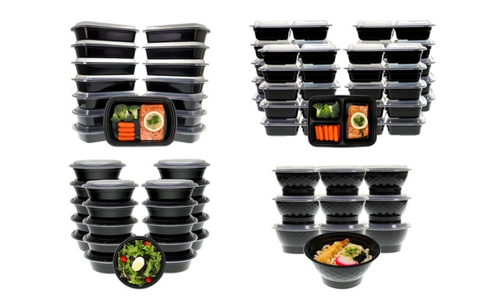 Meal Prep Lunch Box, Containers with Lids (20-, 30-, or 42-Piece Set): Meal Prep Lunch Box, Containers with Lids (20-, 30-, or 42-Piece Set)