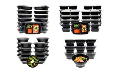 Meal Prep Lunch Box, Containers with Lids (20-, 30-, or 42-Piece Set)