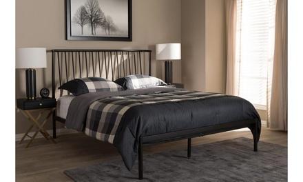Sabine Black Metal Platform Bed