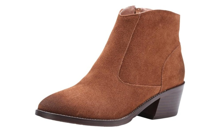 Women's Casual Leather Martin Boots