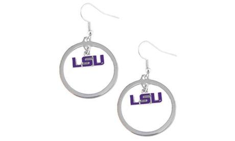 LSU Tigers Hoop Logo Earring Set NCAA Charm 56ff7c07-f431-4648-b893-36d1ae106de1