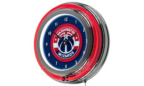 Washington Wizards NBA Neon Clock f74000c8-7596-416b-b238-ff0fd6865d3f