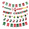 Colorful Christmas Hanging Flag Xmas Party Decoration Supplies Set