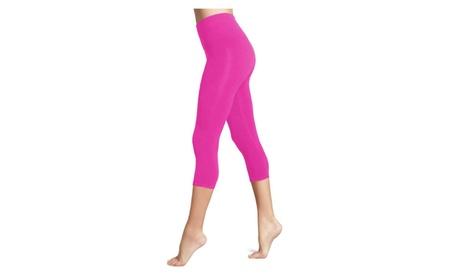 Women's Seamless Capri Length Cropped Leggings Yoga Pants Activewear b26de00a-49d4-48a3-8c3b-6d9c5465c6b0