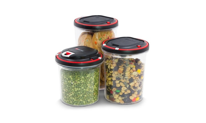 ... Vestia Automatic Vacuum Sealing Food Storage Container, Set Of 3 With  Motor
