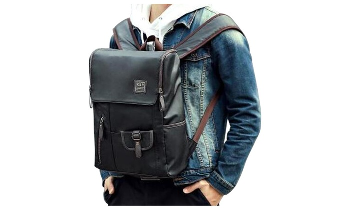 Men's PU Leather Backpack 15 Inch Laptop