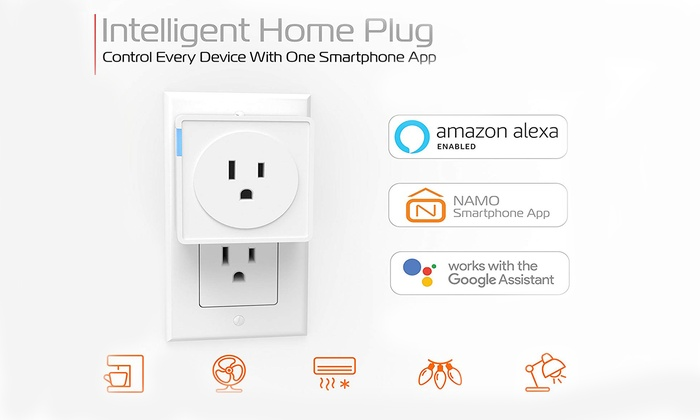 Smart Plug Outlet Timmer Switch Energy Monitoring Compatible with Alexa...