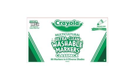 Crayola Washable Multicultural Ultra-Clean Markers Classpack 0dedbbef-7f9a-40c1-8bf0-f5b591df7b9b