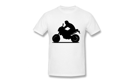 Extreme Sports Motorbike Motorcycle White Men's Tee Shirts fc442c71-2d27-44f9-ad39-6ba759897b4a