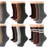 Mirmaru Women's Premium Winter 4 Pairs Wool And Cotton Blend Crew Sock