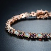 Peermont Topaz and Fire Opal Tennis Bracelet in 18K Rose-Gold Plating