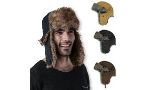 Men's Winter Warm Russian Trooper Aviator Hat