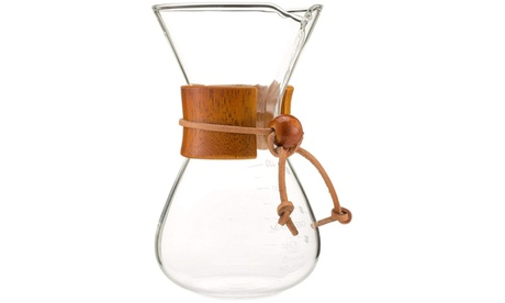 Pour Over Coffee Maker Brewer Glass Carafe Borosilicate photo