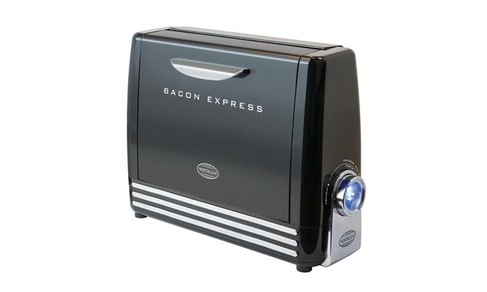 Nostalgia Bcn6bk Bacon Express Crispy Bacon Grill Groupon