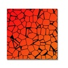 'Crystals of Reds and Orange' Canvas Art