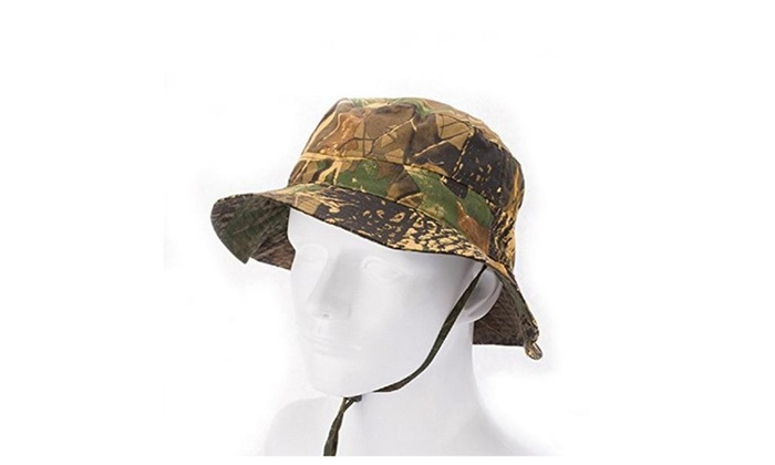 Outdoor Fishing Hat Cotton Realtree Camo Camouflage Bucket Hat
