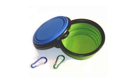 Food Water Feeding Portable Travel Bowl Free Carabiner by COMSUN c638cdcb-05e3-4337-b8d8-85862a71bca3
