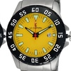 Le Chateau Mens All Stainless Steel 21 Jewel Rotating Bezel Watch