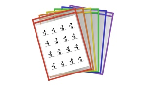"Thornton's Office Supplies Reusable 9""x12"" Dry-Erase Pockets (30-Pack)"