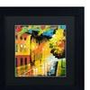 Ricardo Tapia 'Street Light' Matted Black Framed Art
