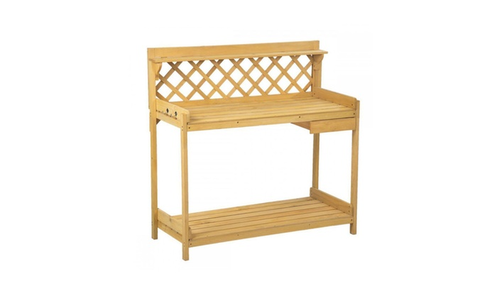 potting bench garden work bench station planting wood construction 114 - Garden Work Bench