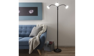 3-Head Floor Lamp with Adjustable Arms