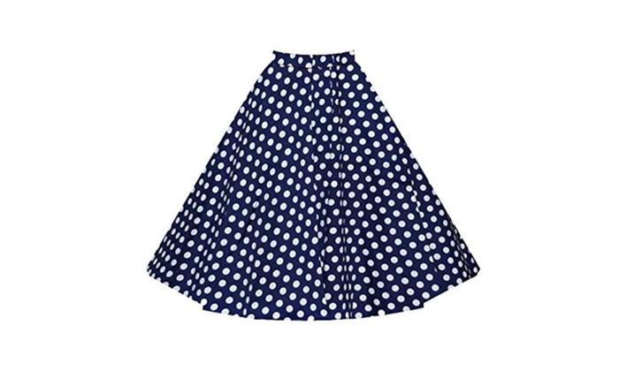 ZuLves Women's 50s Retro High Waist Swing Summer Skirts Casual