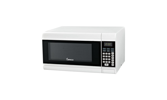 Impecca 0.9 CU. FT. Counter-Top Microwave Oven black-white