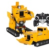 Toy Transformer RC Robot Pushdozer Remote Control Car Lights And Sound