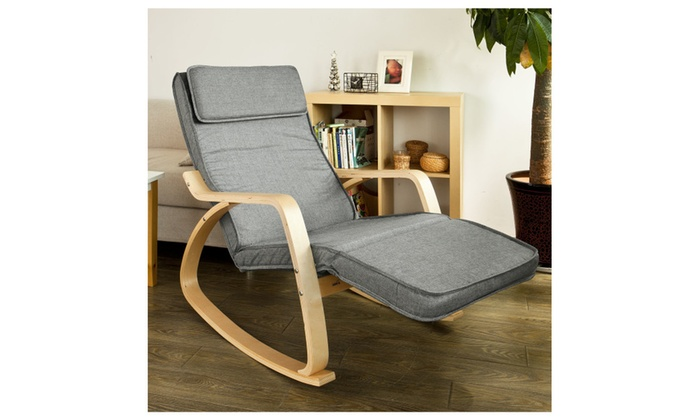 ... Haotian FST18Rocking Chair Lounge Chair with Adjustable Footrest ...  sc 1 st  Groupon & Up To 10% Off on Haotian FST18Rocking Chair L... | Groupon Goods