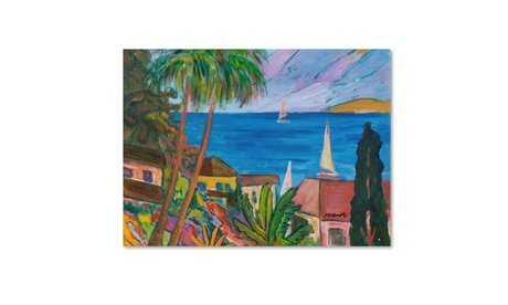 Manor Shadian 'Three Sails on the Pacific' Canvas Art 63e603b0-86ae-4f1f-bcb0-f5a02c334c70