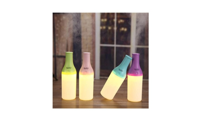 Super Night Light Air Humidifier Aroma Diffuser Wine Bottle